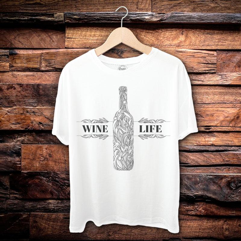 Camiseta Masculina Wine Life